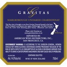 Gravitas - Unoaked Chardonnay